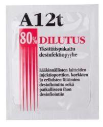 Dilutus desinfiointipyyhe, yksittäispakattu 250kpl/ltk