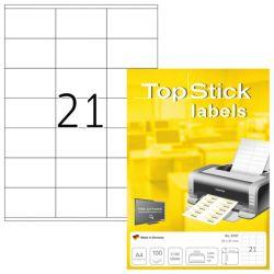 Tulostustarra  Top Stick 8707, 70x41 mm, 21-osainen, 100 arkkia/laatikko