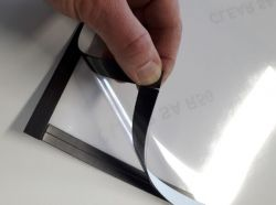 Infotarra magneettikehyksellä A4, 2 kpl/pkt, hopea reunus