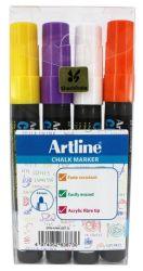 Taulukynäsrj Chalk Marker EPW/4W2 4-väriä/sarja