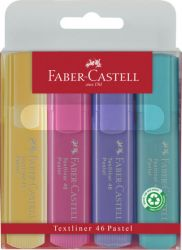 Korostuskynäsarja liaaä Textliner 1546, 4 pastelliväriä/sarja