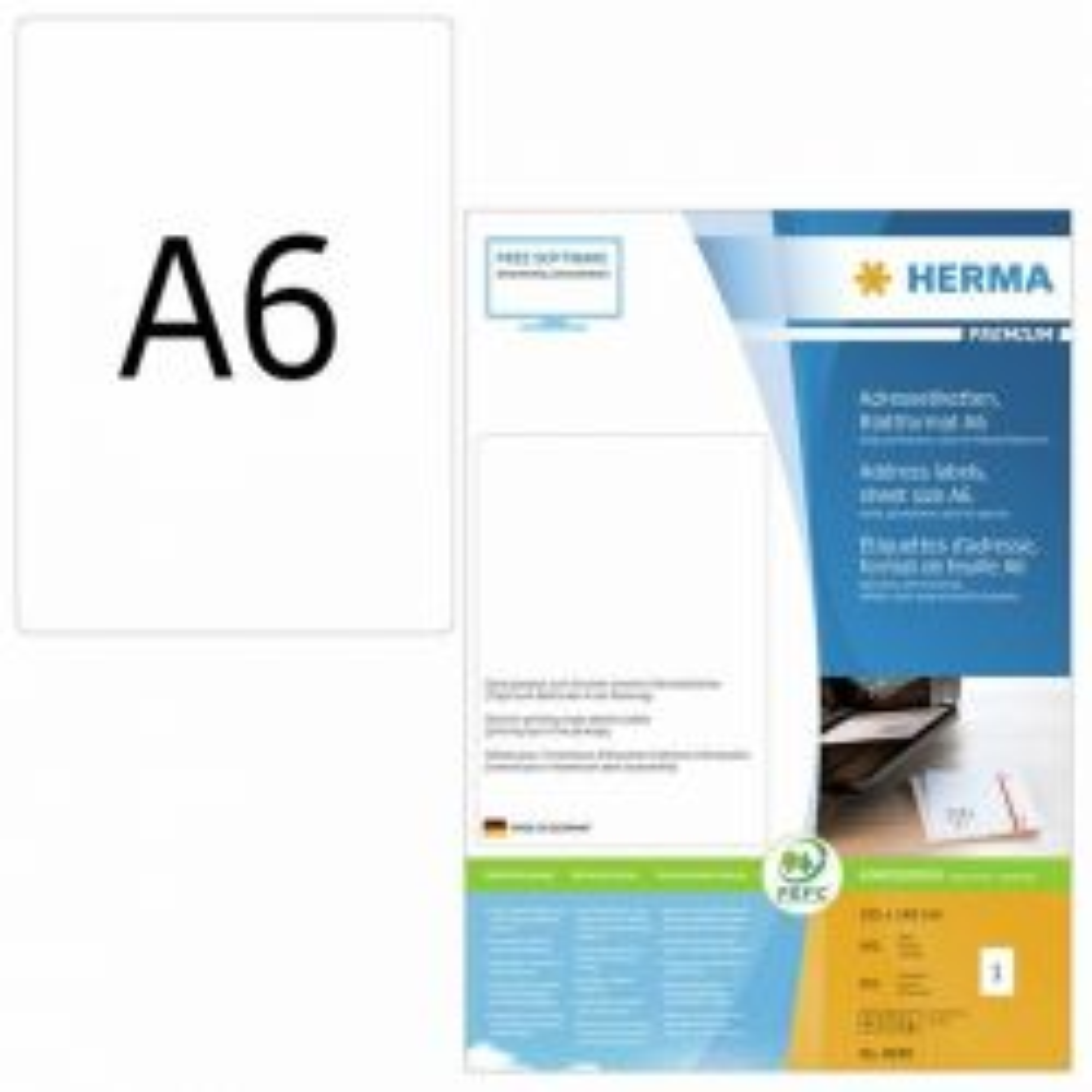 Osoitetarra  Premium 8689, A6, 105x148