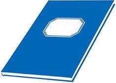 Konttorikirja A4 192 sivua 7x7 ruudut