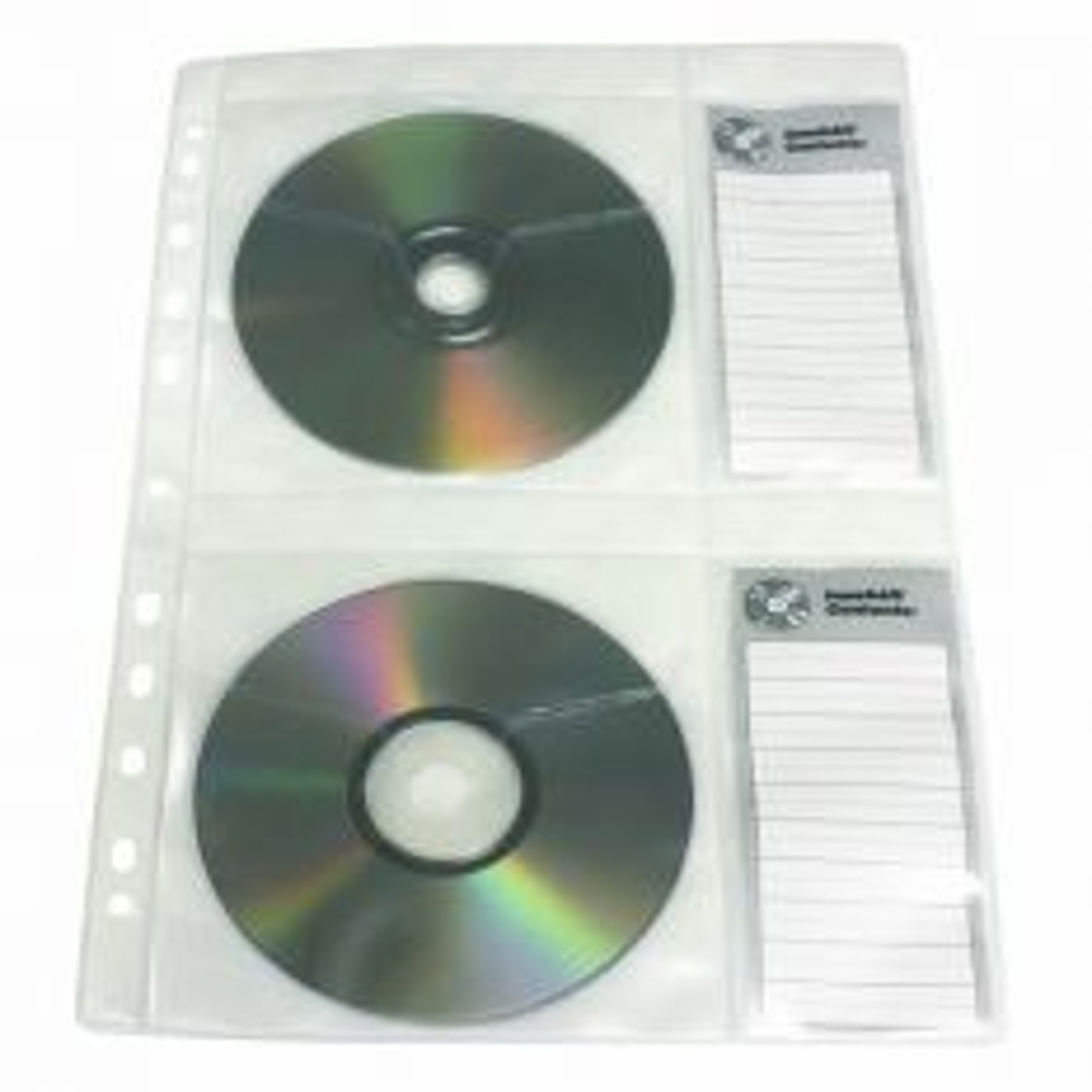 CD kansiotasku 4 levylle, A4, kirkas, 80 mic