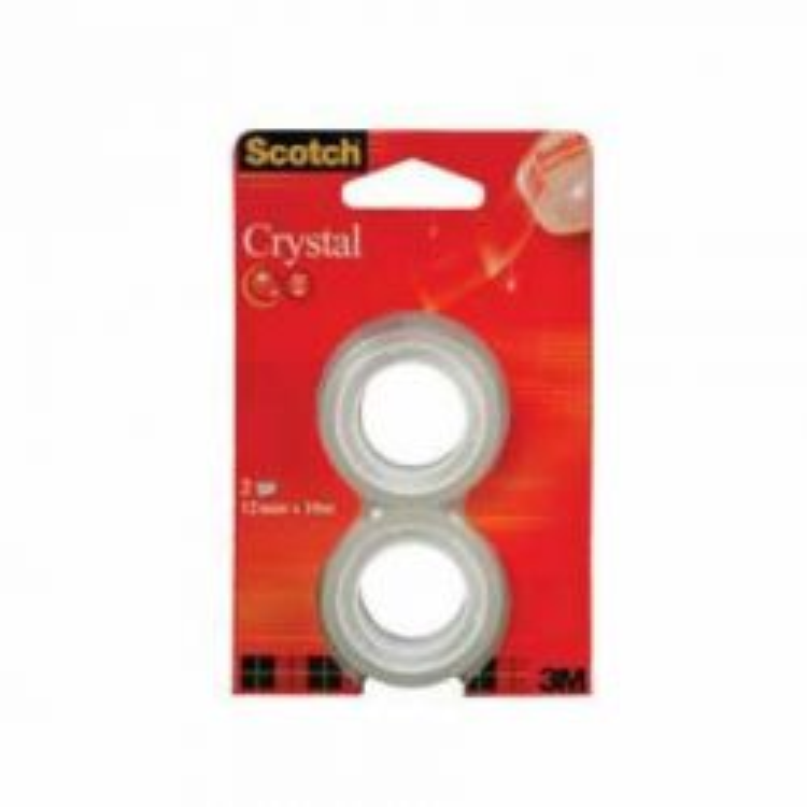 Yleisteippi Crystal Clear 6-1210R2 täyttörulla, 2 kpl/pak