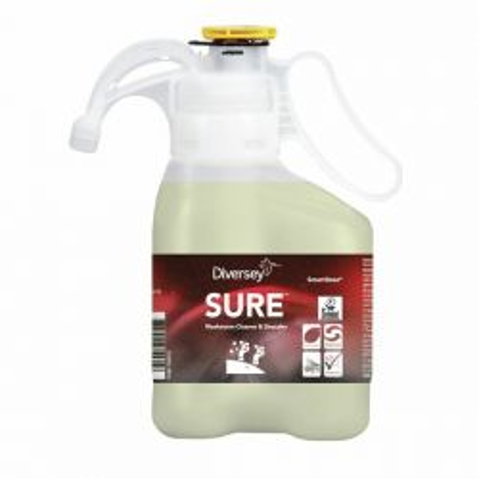 Saniteettitilojen puhdistus- ja saostumienpoistoaine SURE SD 1,4L