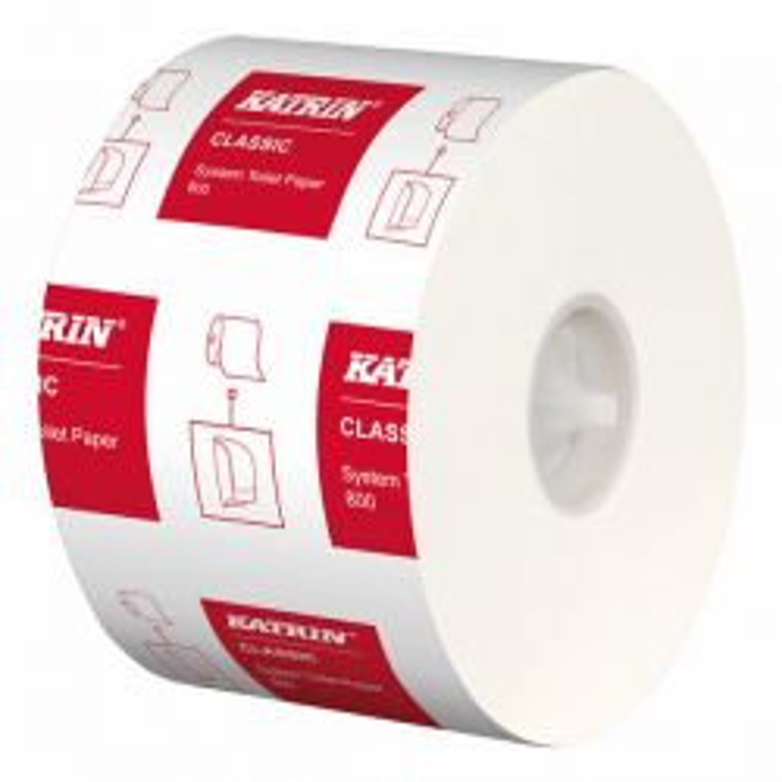 WC-paperi System Toilet 800 valkoinen