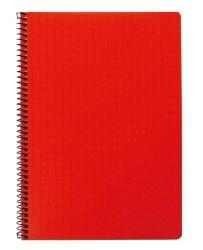 Kierrevihko A5 punainen 7x7 mm ruudut 80 sivua