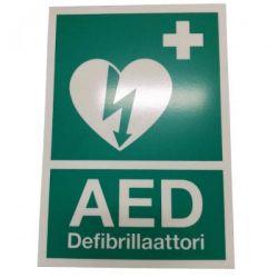 AED opastekyltti A4