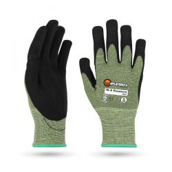 Puncture Soft pistosuojakäsine XL/11 musta/vihreä 6paria/pkt