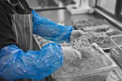 Hihansuojus kertakäyttö sininen one-size 10kpl