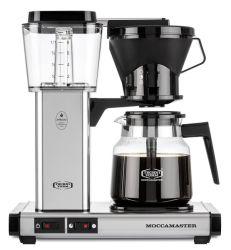 Kahvinkeitin Moccamaster Manual polished silver manuaalisella tippalukolla