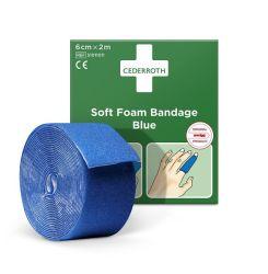 Soft-laastari Soft Foam sininen 6cm x 2m