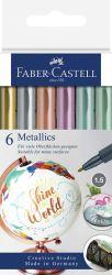 Merkintäkynäpakkaus metallivärit, 6 väriä/paketti