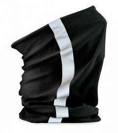 Tuubihuivi heijastava musta