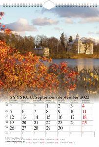 Seinäkalenteri A3 Suomi 2022