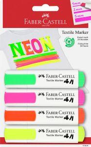 Tekstiilikynä riippupakattu neon 4 väriä/sarja riippupakattu