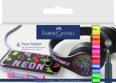 Merkintäkynäsarja Neon 6 väriä/paketti
