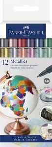 Merkintäkynäpakkaus metallivärit 12 väriä/paketti