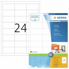 Tulostustarra  Premium 4262, 64,6x33,8 mm, 24-osainen, 100 arkkia/laatikko